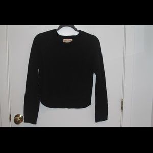 black cropped sweater